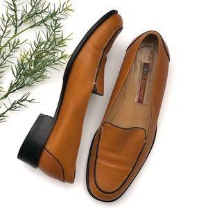 a. testoni Italian Leather Loafers Flats